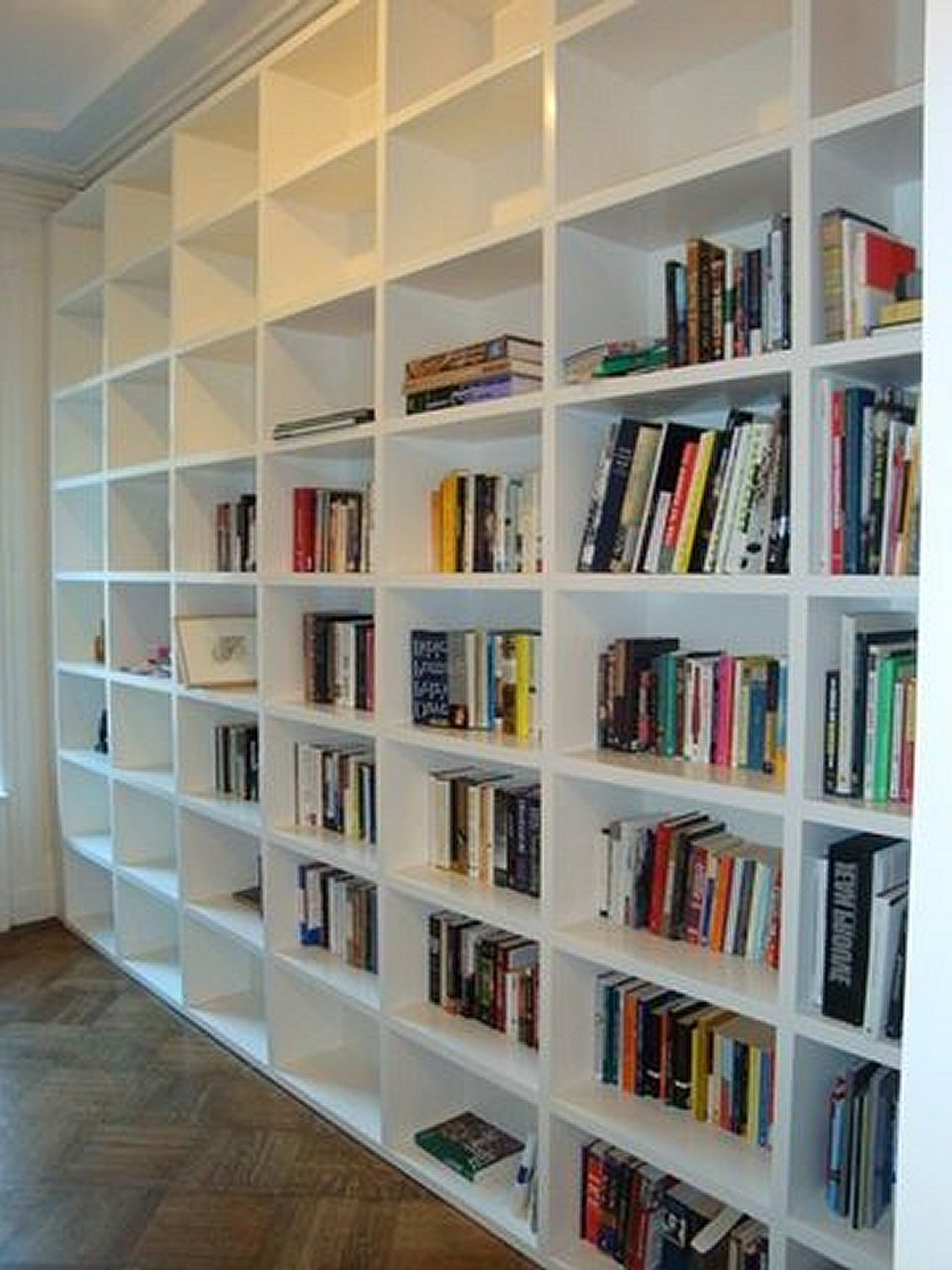 bookshelf bookcase talk door contractor finish bookcases carpentry sliding