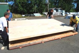 How to build a large wood modern pivot door warp free pivot door