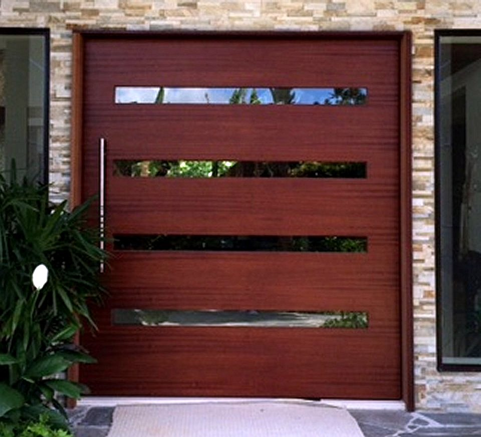 Custom entry door pivot door inc for Large wooden front doors