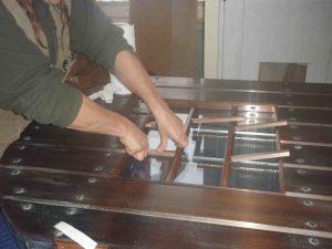 copper pivot door installing glass lites metal pivot doors lightweight stronger than steel