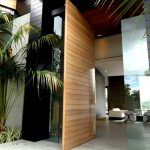 pivoting front doors 16 ft tall large teak pivot door