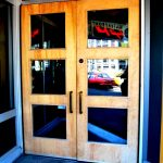 Pivot doors at 2801 address