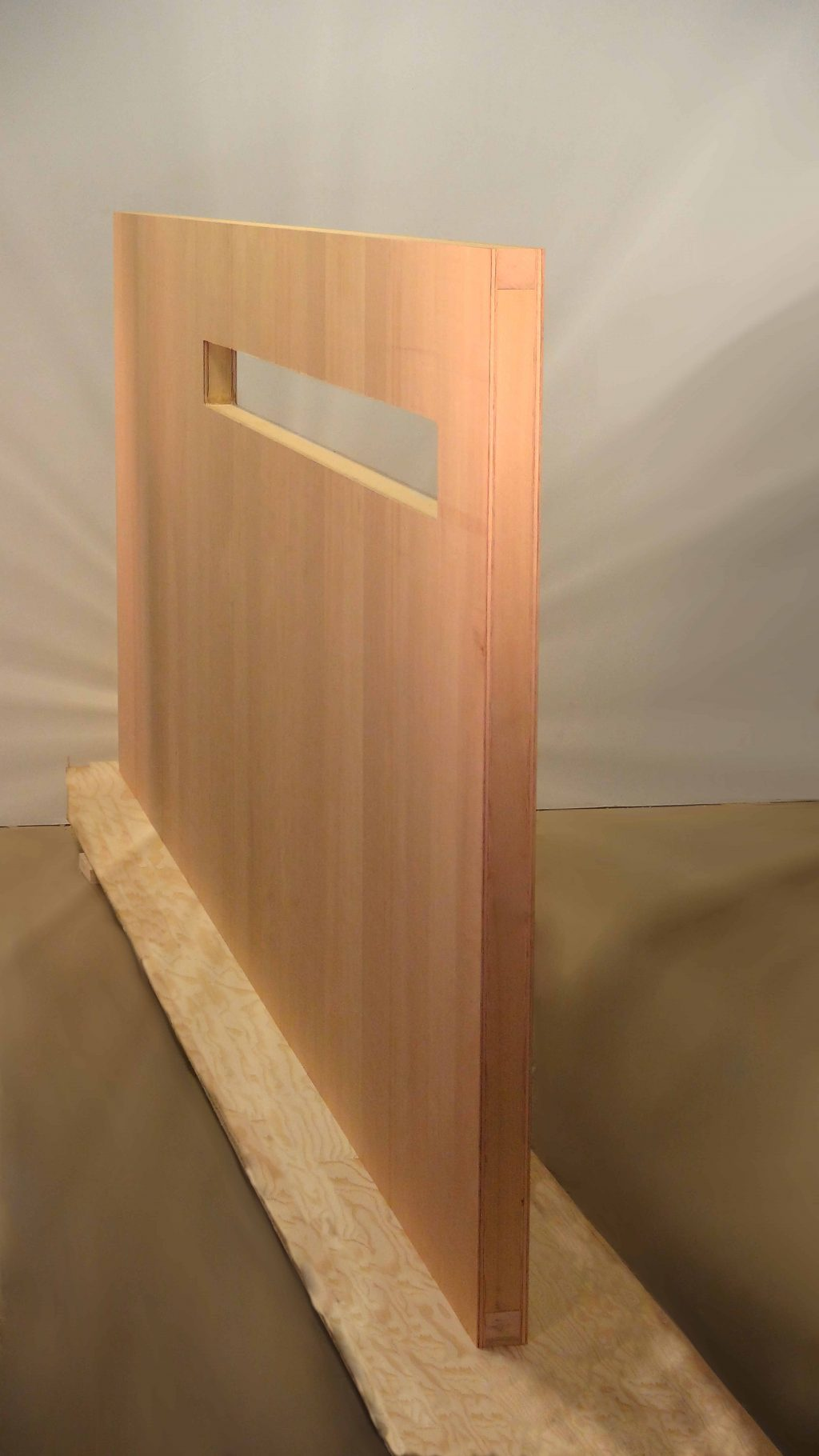 Large Pivot Door warp free wood high strength light weight