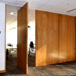 Pivot door room dividers insulated wood
