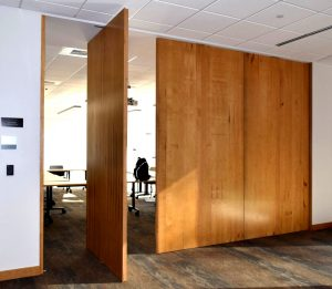 Pivot-door-room-dividers-insulated-wood-lightweight-high-strength